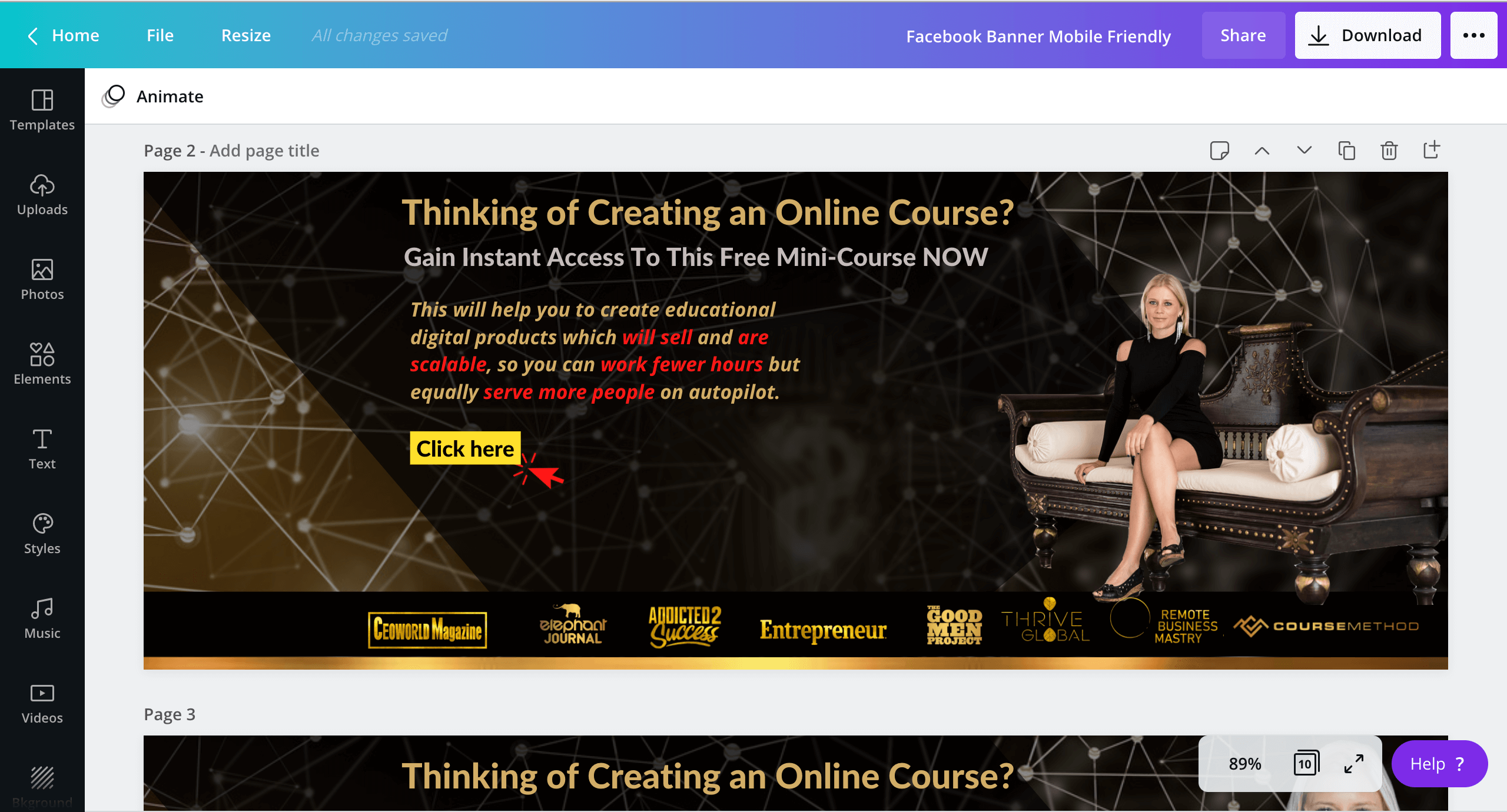 How to create an online course for free12